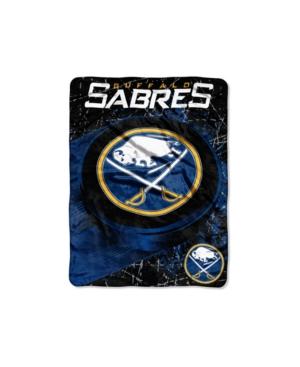 Northwest Company Buffalo Sabres Micro Raschel Ice Dash Throw Blanket