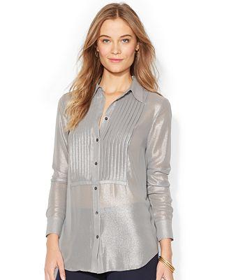 Luxury Lauren Ralph Lauren Petites39 QuotMandellquot Ruffle Front Blouse