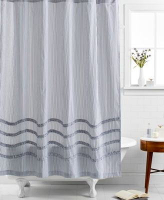 CLOSEOUT! Martha Stewart Collection Ruffle Shower Curtain