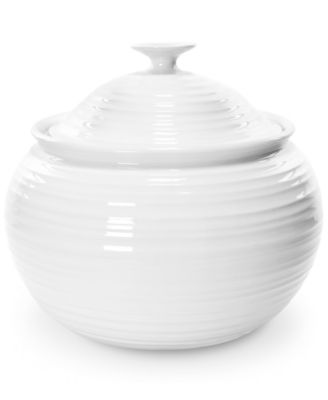 "Portmeirion ""Sophie Conran"" White Covered Casserole, 8.5 pt."