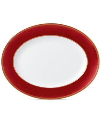 Wedgwood Renaissance Red Oval Platter