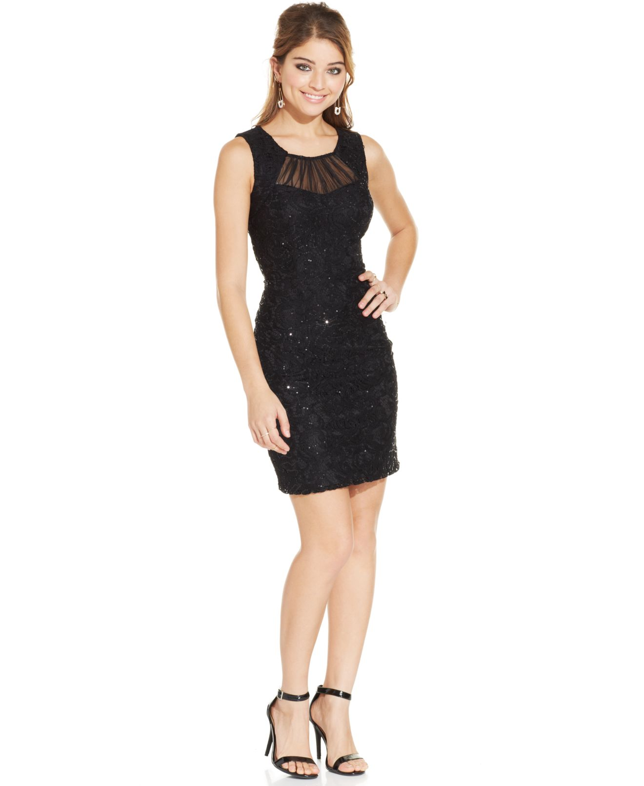 Sequined Mesh Sheath Dress Sequin Lace Sheath Dress