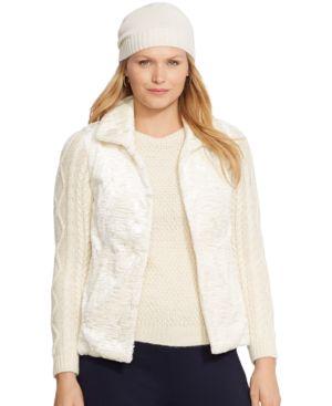 Lauren Ralph Lauren Plus Size Faux-Fur Reversible Vest