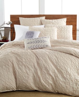Bar III Box Pleat Sand King Comforter