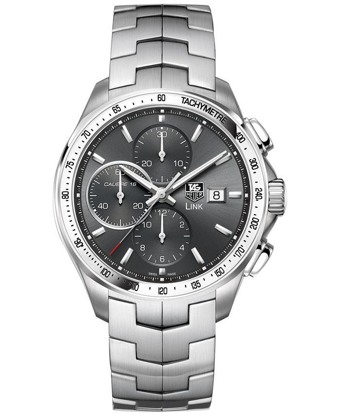 TAG Heuer - Men's Swiss Automatic Chronograph Link Stainless Steel Bracelet Watch 43mm CAT2017.BA0952