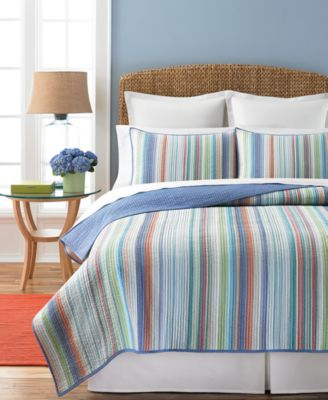 Martha Stewart Collection Chatham Stripe King Quilt