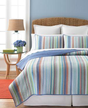 Martha Stewart Collection Chatham Stripe Full/Queen Quilt Bedding