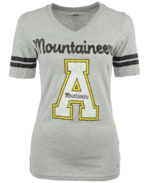 Soffe Women's Short-Sleeve Appalachian State Mountaineers V-Neck T-Shirt plus size,  plus size fashion plus size appare