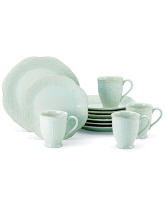 Lenox French Perle Ice Blue 12-Piece Set, Service for 4