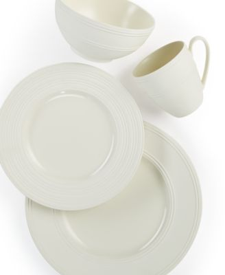 kate spade new york Dinnerware, Fair Harbor White Truffle 4-Pc. Place Setting