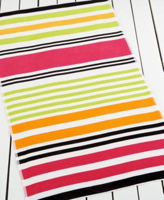 Martha Stewart Collection Biscayne Stripe Warm Beach Towel