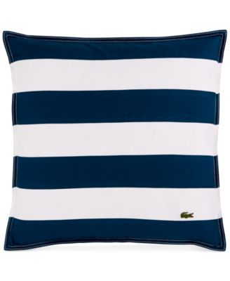 "Lacoste Home Striped Pieced 18"" Square Decorative Pillow"