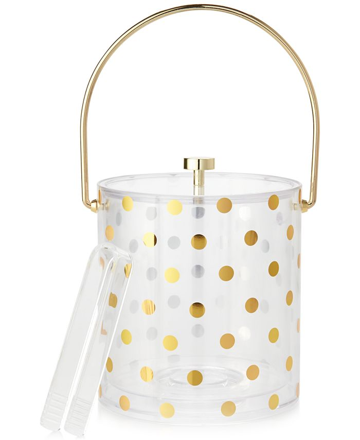 kate spade new york - Gold Dots Acrylic Ice Bucket