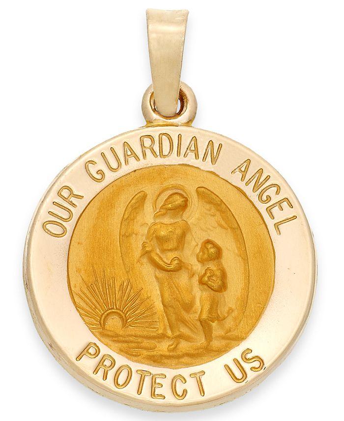 Macy's - Guardian Angel Pendant in 14k Gold
