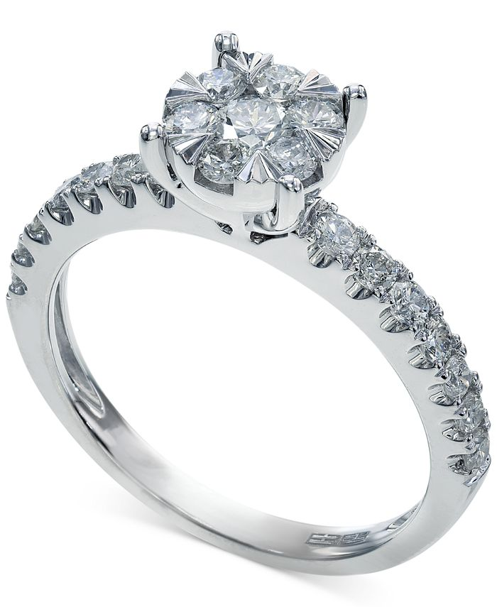 EFFY Collection - Diamond Ring in 14k White Gold (3/4 ct. t.w.)