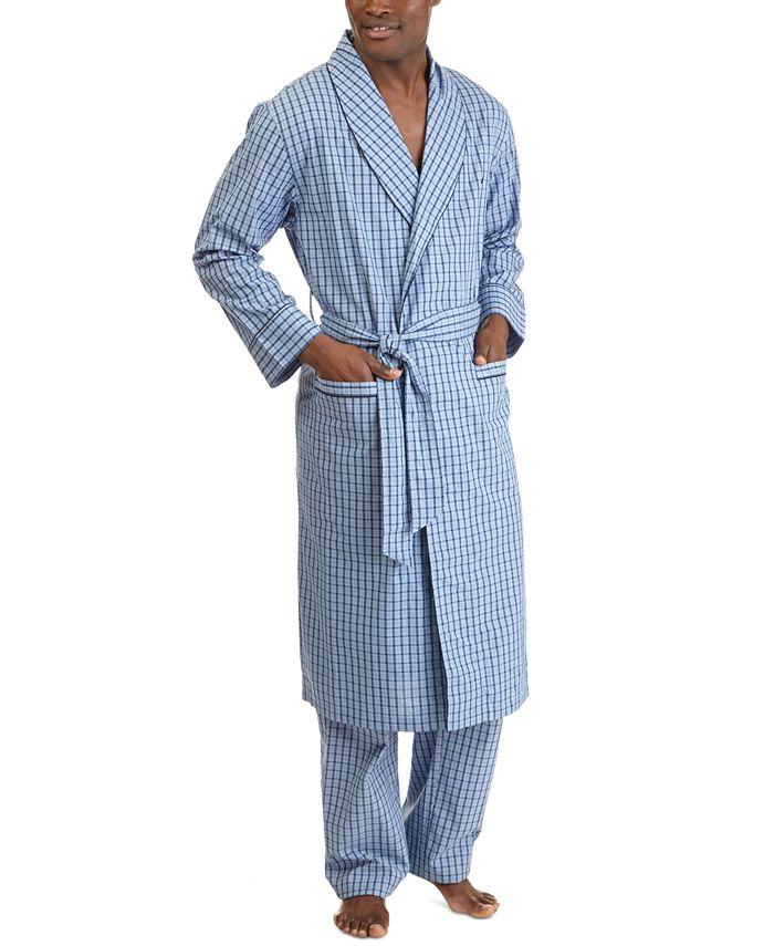 Nautica - Men's Woven Plaid Robe