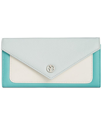 Giani Bernini Softy Leather Colorblock Envelope Clutch Wallet