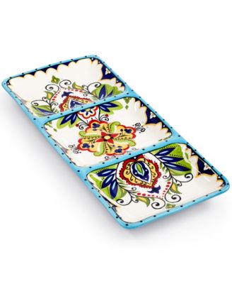Espana Bocca 3-Section Relish Tray