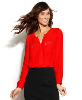 Red Womens Blouse