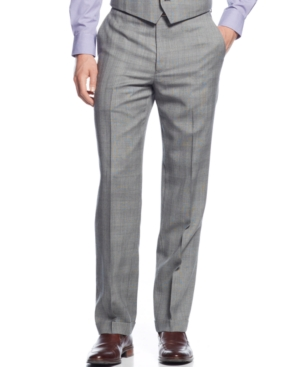 Ryan Seacrest Distinction Black  White Glen Plaid Pants $59.99 AT vintagedancer.com