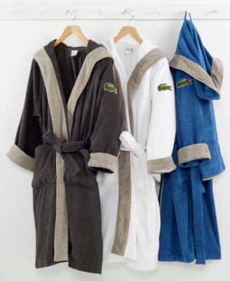 Lacoste Signature Hooded Robe