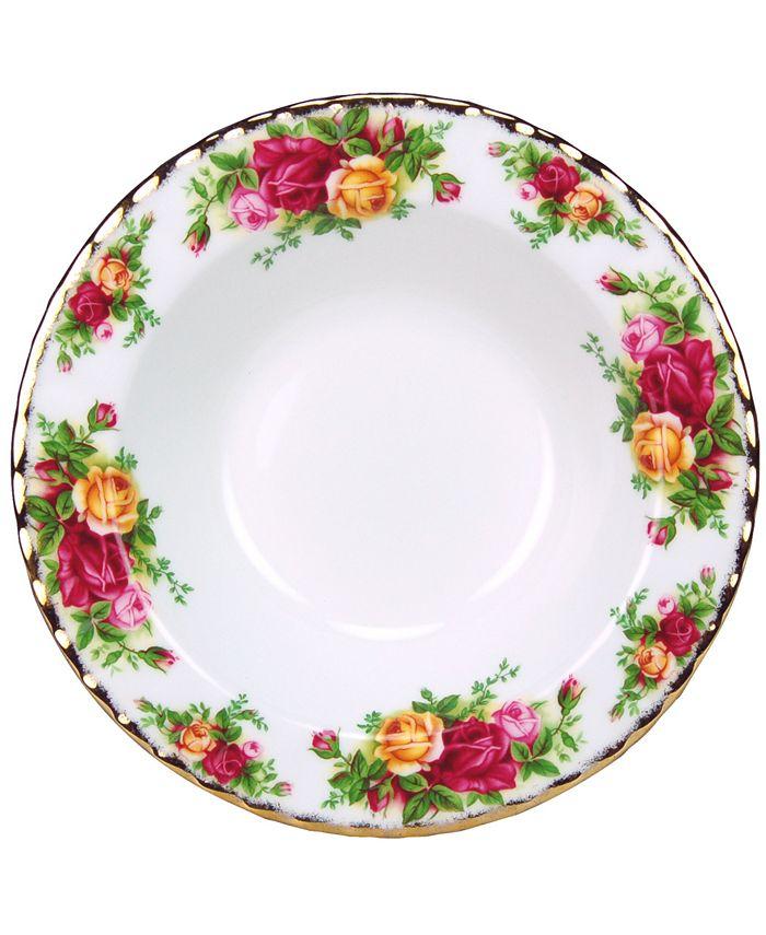"""Royal Albert - """"Old Country Roses"""" Rim Soup Bowl, 8"""""""