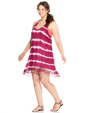 ba8ef722167 ... UPC 822269064674 product image for Raviya Plus Size Tie-Dye Striped Dress  Cover Up Women s ...