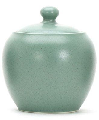 "Noritake ""Colorwave Green"" Covered Sugar Dish, 13 oz"