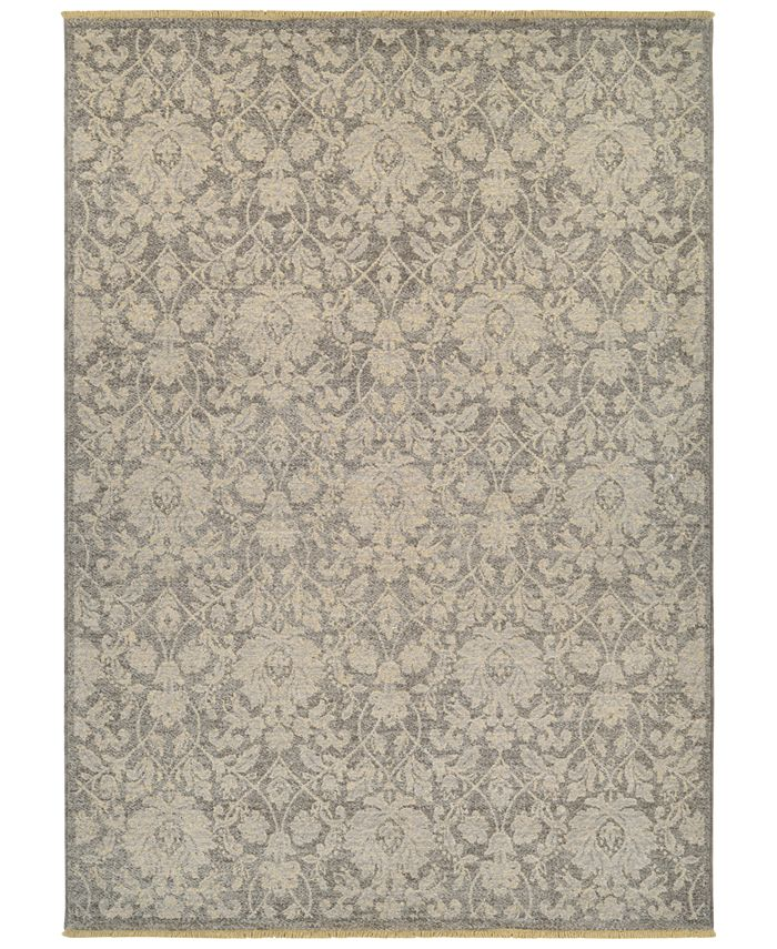 "Couristan - Grand Manor Lorelei Grey-Tan 6'6"" x 9'6"" Area Rug"