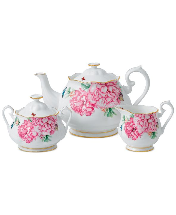 Royal Albert Miranda Kerr for Friendship Teapot, Sugar & Creamer
