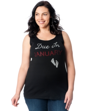 Motherhood Maternity Plus Size Studded Graphic Tank Top plus size,  plus size fashion plus size appare