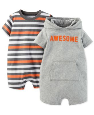 Carter's Baby Boys' 2-Pack Awesome Rompers