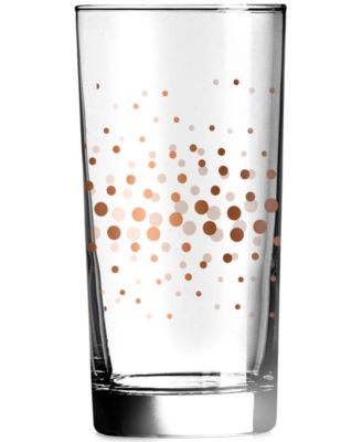 Luminarc Speckle Copper Highball Glasses, Set of 4
