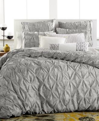 Bar III Diamond Pleat King Comforter