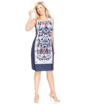 Charter Club Plus Size Printed Shift Dress