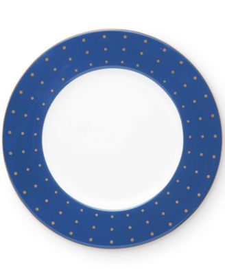 """Library Lane Navy 9"""" Accent Plate"""