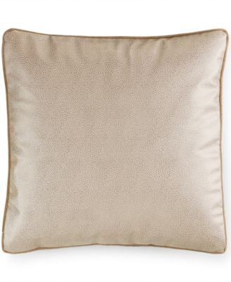 """Hotel Collection Savoy Espresso 18"""" Square Decorative Pillow"""