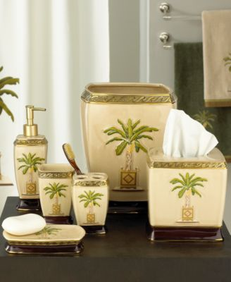 Avanti Quot Banana Palm Quot Bath Accessories Bathroom