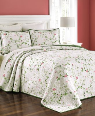 CLOSEOUT! Martha Stewart Collection Budding Blossom King Bedspread