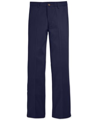 Image of Nautica Boys' Flat-Front Twill Uniform Pants
