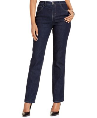 Image of Style & Co. Tummy-Control Colored Wash Straight-Leg  Jeans, Only at Macy's