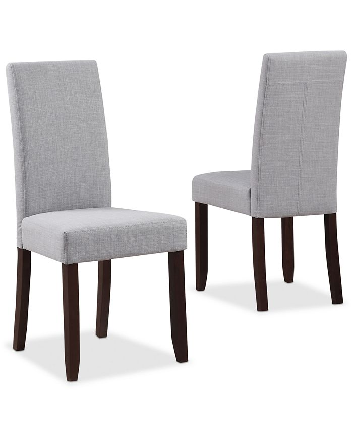 Simpli Home - Fabric Set of 2 Parson Chairs, Direct Ship