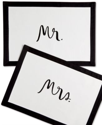 kate spade new york Mr. & Mrs Placemats
