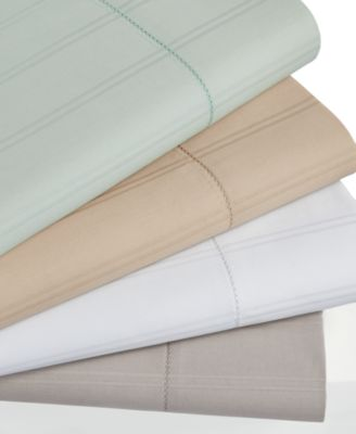 Hotel Collection 600 Thread Count Striped King Fitted Sheet