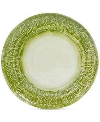 Maison Versailles Castleware Melamine Round Green Dinner Plate