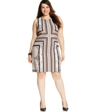 Charter Club Plus Size Printed Shift Dress
