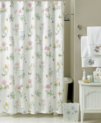 embellish your bathroom with this lovely floral and butterflies pattern french country shower curtains