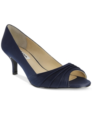 Nina Carolyn Peep Toe Evening Pumps Women's Shoes