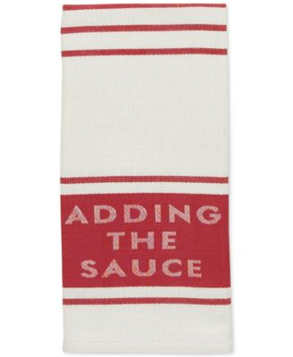 "kate spade new york all in good taste ""Adding the Sauce"" Diner Stripe Kitchen Towel"