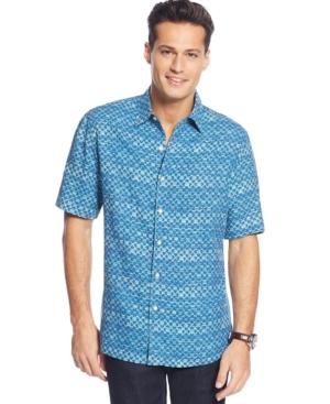 Tasso Elba Island Stripe Pattern Shirt $34.99 AT vintagedancer.com
